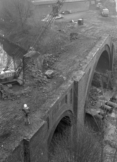 Demolition of the viaduct