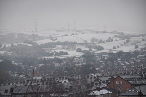 Snowy Rooftops from Cocker Hill, 2015