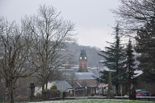 Stalybridge, Victoria Marklet Hall, from Cocker Hill 2015